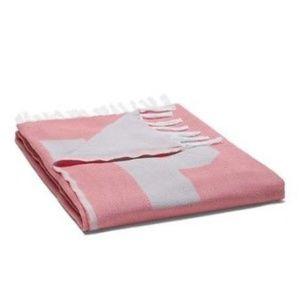 PINK Victoria's Secret Bedding - PINK Victoria's Secret Fringe Beach Blanket Coral